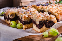 Gooseberries chocolate cake Royalty Free Stock Image