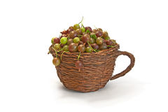 Gooseberries in a cup  on white Stock Image