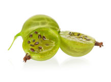 Gooseberries maduros fotografia de stock royalty free