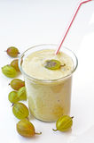 Gooseberries smoothie Stock Photography