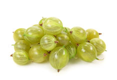 Gooseberries verdes imagem de stock