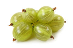 Gooseberries verdes fotografia de stock royalty free