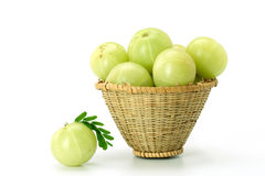 Gooseberries on white Royalty Free Stock Images