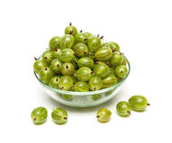 Gooseberries  on a white background Stock Photo