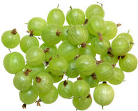 Gooseberry. Group of fresh gooseberry isolated on white background Stock Photography