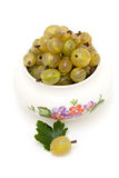 Gooseberry in a bowl Stock Photo