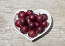 Gooseberry. In a bowl on a table Stock Photography