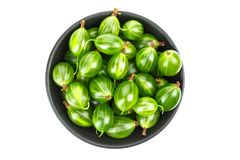 Gooseberry clipping path stock image