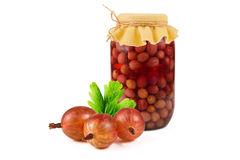 Gooseberry compote Royalty Free Stock Images