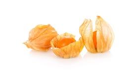 Gooseberry de cabo, physalis isolado no fundo branco Fotografia de Stock
