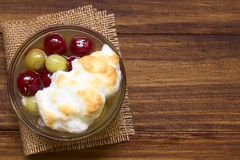 Gooseberry Dessert with Meringue Royalty Free Stock Images