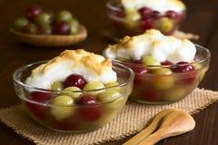 Gooseberry Dessert with Meringue Royalty Free Stock Photography