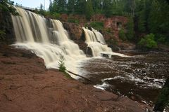 Gooseberry Falls. Waterfall at Gooseberry Falls State Park in Minnesota Royalty Free Stock Photos