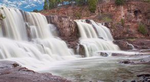 Gooseberry Falls (middle fall) stock photography