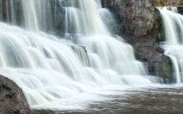Gooseberry Falls (middle fall). Long exposure of Middle Gooseberry Fall in Minnesota to show water motion. Located on the north shore of Lake Superior Stock Photos