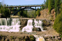 Gooseberry Falls (middle falls) Royalty Free Stock Image