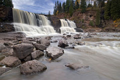 Gooseberry falls, North Shore, Lake Superior, Minnesota, USA Royalty Free Stock Image