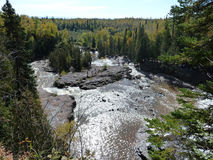 Gooseberry Falls. Of the Gooseberry River on the north shore of Lake Superior in the Autumn Stock Image