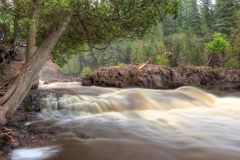 Gooseberry Falls State Park in Minnesota during autumn on the North Shore of Lake Superior.  Royalty Free Stock Photography