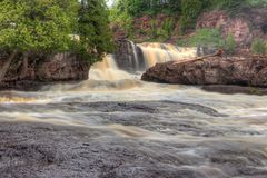 Gooseberry Falls State Park in Minnesota during autumn on the North Shore of Lake Superior.  Stock Images