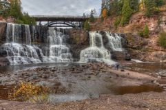Gooseberry Falls State Park in Minnesota during autumn on the North Shore of Lake Superior.  Royalty Free Stock Photos