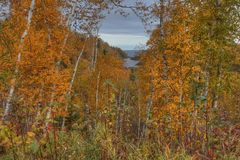 Gooseberry Falls State Park in Minnesota during autumn on the North Shore of Lake Superior.  Stock Photos