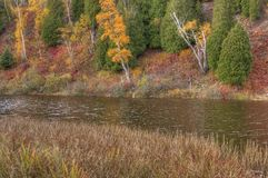 Gooseberry Falls State Park in Minnesota during autumn on the North Shore of Lake Superior.  Stock Photography