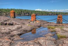 Gooseberry Falls State Park in Minnesota during autumn on the North Shore of Lake Superior.  Royalty Free Stock Images