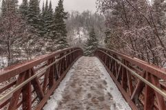 Gooseberry Falls State Park on Minnesota`s North Shore of Lake Superior in Summer.  Stock Photos