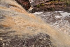Gooseberry Falls State Park on Minnesota`s North Shore of Lake Superior in Summer.  Royalty Free Stock Photography