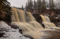 Gooseberry Falls State Park on Minnesota`s North Shore of Lake Superior in Summer.  Stock Photography
