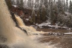 Gooseberry Falls State Park on Minnesota`s North Shore of Lake Superior in Summer.  Royalty Free Stock Photos