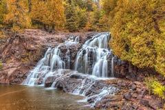 Gooseberry Falls. Upper Gooseberry Falls Along Minnesota's North Shore in Indian Summer royalty free stock image