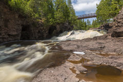 Gooseberry Fifth Falls Stock Image