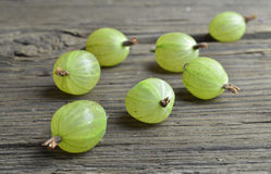 Gooseberry fruits on desk Royalty Free Stock Images