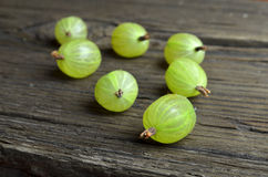 Gooseberry fruits on desk Royalty Free Stock Photo