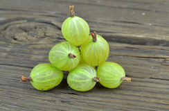 Gooseberry fruits on desk Stock Images