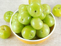 Gooseberry. Gooseberries in a bowl Royalty Free Stock Image