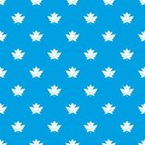 Gooseberry leaf pattern seamless blue Stock Photos