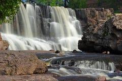 Gooseberry Middle Falls. In Minnesota Stock Photos