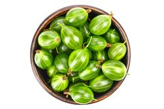 Gooseberry in a plate isolated stock image
