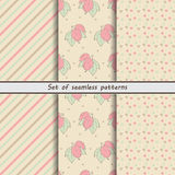 Gooseberry, a set of seamless patterns royalty free illustration