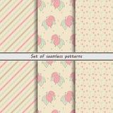 Gooseberry, a set of seamless patterns Royalty Free Stock Photos