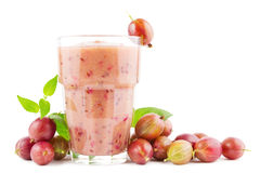 Gooseberry smoothie Stock Image