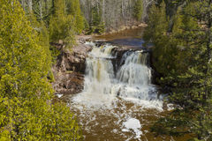 Gooseberry Upper Falls Spring Royalty Free Stock Images