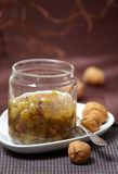 Gooseberry and walnut jam Royalty Free Stock Photos
