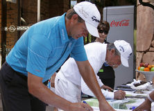 GOOSEN RETIEF AND PAYER GARY PRO GOLFERS Stock Photo