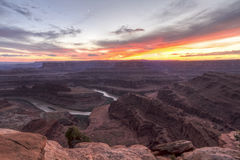Gooseneck Mesa Purple Sunset van Colorado Royalty-vrije Stock Fotografie