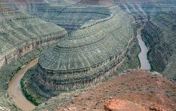 Gooseneck nella zona di ricreazione nazionale del canyon della valletta Fotografie Stock