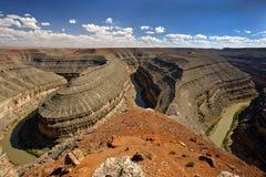 goosenecks κάμψεων ποταμός s Utah πάρκων Στοκ Εικόνες